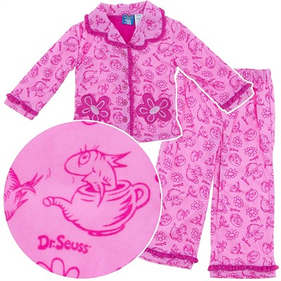 Dr. Seuss Pink Fish in the Pot Coat-Style Pajamas for Toddler Girls