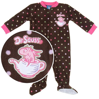 The Fish in the Pot Footed Pajamas for Baby Girls