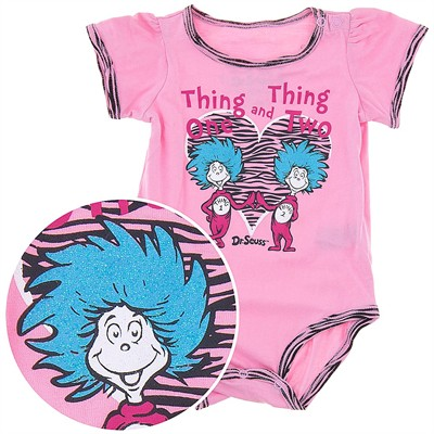 Thing One Thing Two Pink Onesie