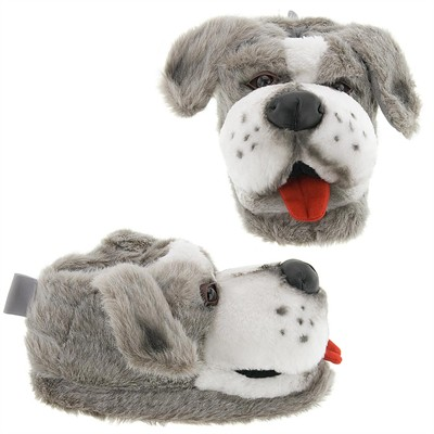 Gray Sheepdog Animal Slippers for Women and Men
