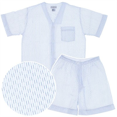 Blue Print Short Pajamas for Men
