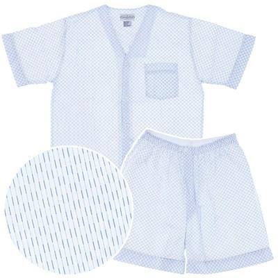 Blue Print Short Pajamas for Men