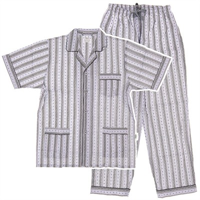 Plum Broadcloth Short Sleeved Pajamas for Men