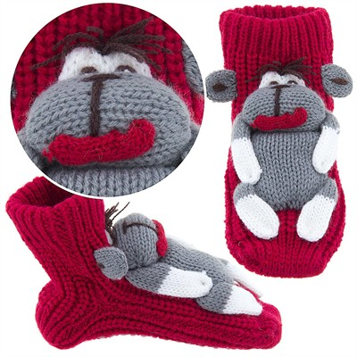 Monkey Slipper Socks for Kids