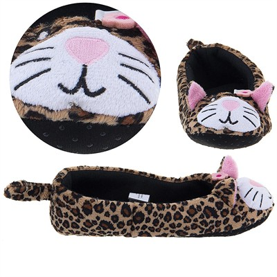 Leopard Ballet Flat Slippers for Women
