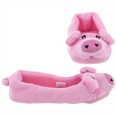 Pig Ballet Flat Slippers for Women