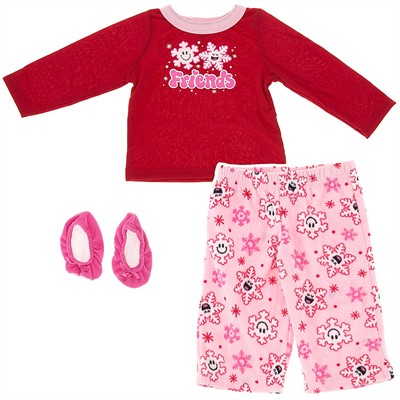 Snowflake Friends Pajamas for Infant and Toddler Girls