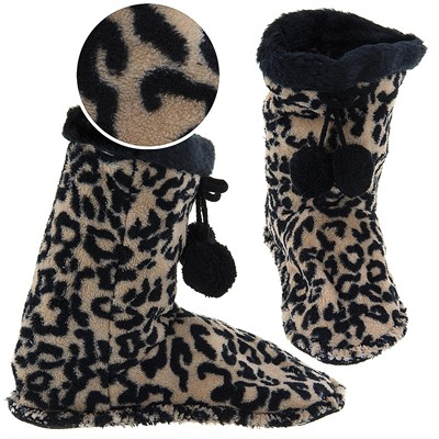 Snuggle Feet Cheetah Slippers for Women