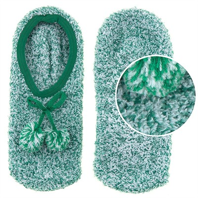 Snuggle Feet Green Slipper Socks for Women