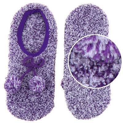 Snuggle Feet Purple Slipper Socks for Women