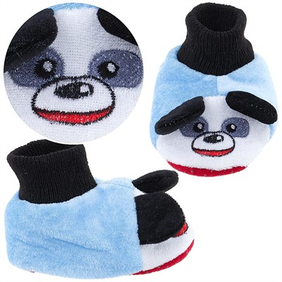 Blue Puppy Sock Top Slippers for Toddlers