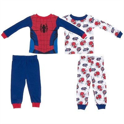 Spider-man Set of Two Cotton Pajamas for Toddler Boys
