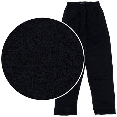 State O Maine Black Fleece Pajama Pants for Men