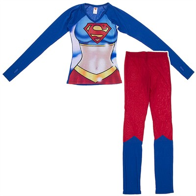 Super Girl Snug Fitting Pajama Set for Juniors