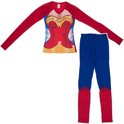 Wonder Woman Snug Fitting Pajama Set for Juniors