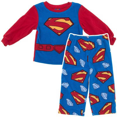 Superman Fleece Pajamas for Toddler Boys