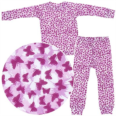 Sweet Potatoes Butterfly Cotton Pajamas for Toddlers and Girls