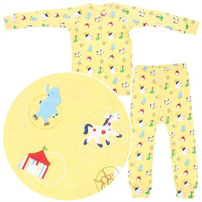 Sweet Potatoes Circus Animal Cotton Pajamas for Toddlers and Girls
