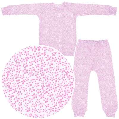 Sweet Potatoes Tiny Pink Floral Cotton Pajamas for Toddlers and Girls