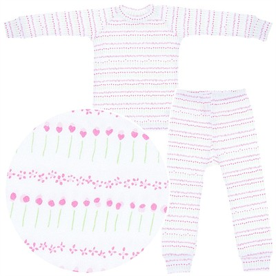 Sweet Potatoes Tulip Cotton Pajamas for Toddlers and Girls