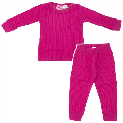Dark Pink Thermal Underwear Set for Girls