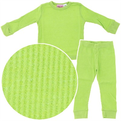 Green Thermal Underwear Set for Girls