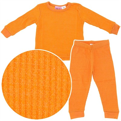 Orange Thermal Underwear Set for Girls