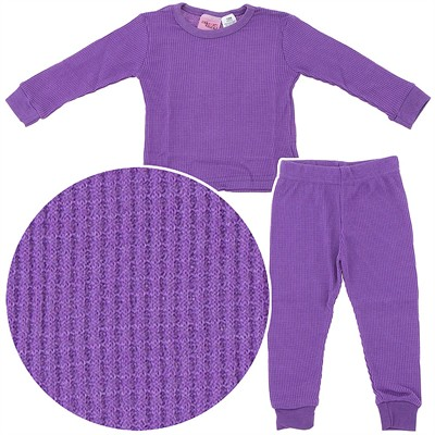 Purple Thermal Underwear Set for Girls