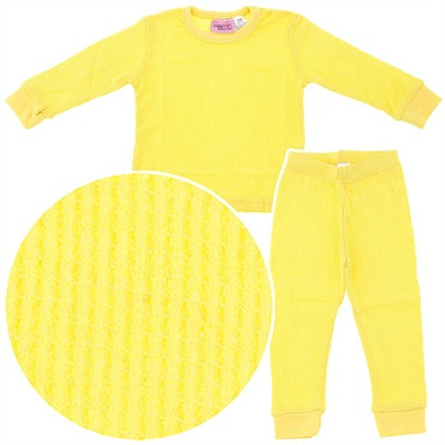 Yellow Thermal Underwear Set for Girls