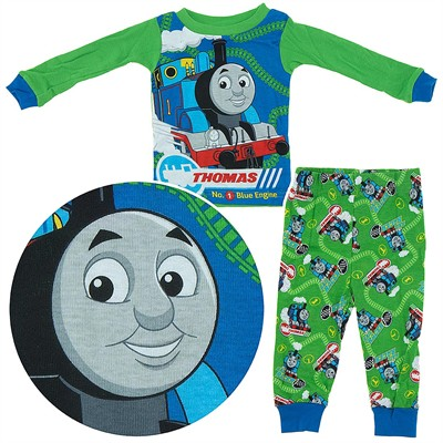 Thomas the Tank Engine Green Cotton Pajamas for Infant Boys