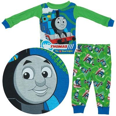 Thomas the Tank Engine Green Cotton Pajamas for Infant Boys