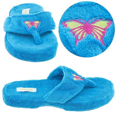 Blue Butterfly Thong Style Slippers for Women