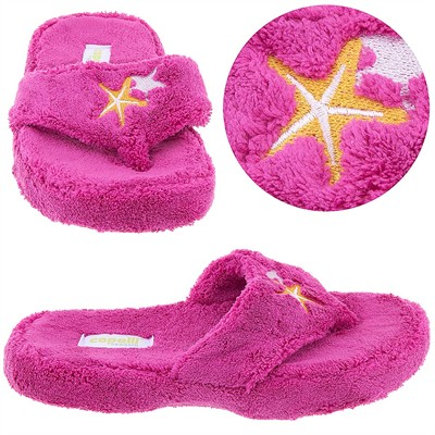 Pink Starfish Thong Style Slippers for Women