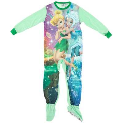 Tinker Bell Green Footed Pajamas for Girls