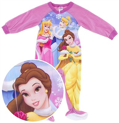 Disney Princess Footed Pajamas for Toddler Girls