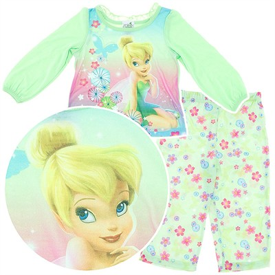 Tinker Bell Lime Pajamas for Toddler Girls