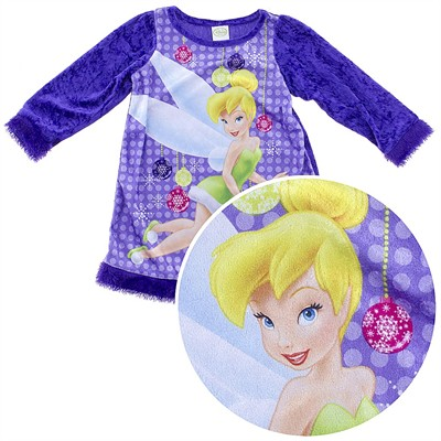 Tinker Bell Christmas Nightgown for Toddler Girls