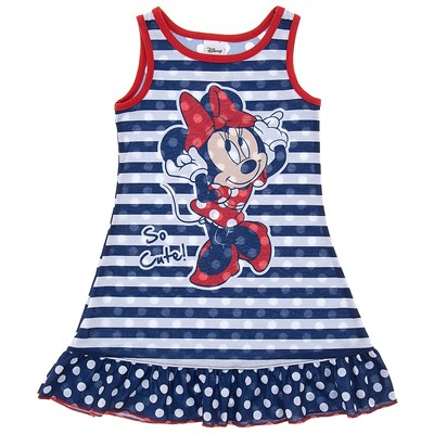 Minnie Mouse Blue Stripe Nightgown for Toddler Girls