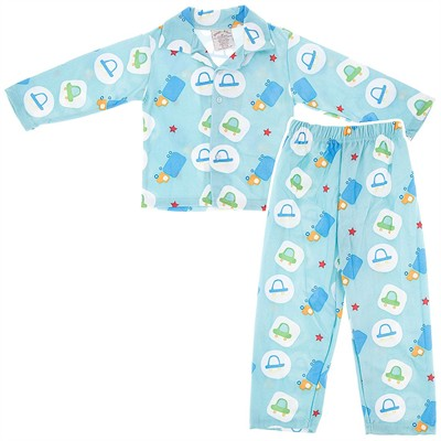 Blue Cars Pajamas for Toddlers and Boys