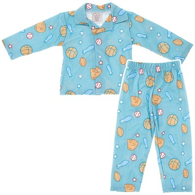 Blue Sports Pajamas for Toddlers and Boys