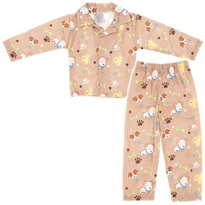Brown Puppy Pajamas for Toddlers and Boys