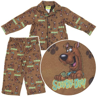 Scooby Doo Coat-Style Pajamas for Toddler Boys