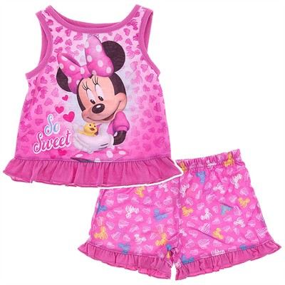 Minnie Mouse Pink Shorty Pajamas for Toddler Girls