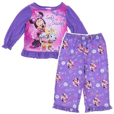 Minnie Mouse Purple Pajamas for Toddler Girls