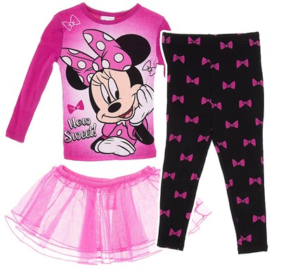 Minnie Mouse Pajamas with Tutu for Toddler Girls