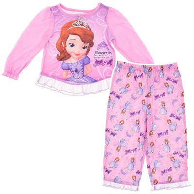 Sofia the First Pink Pajamas for Toddler Girls