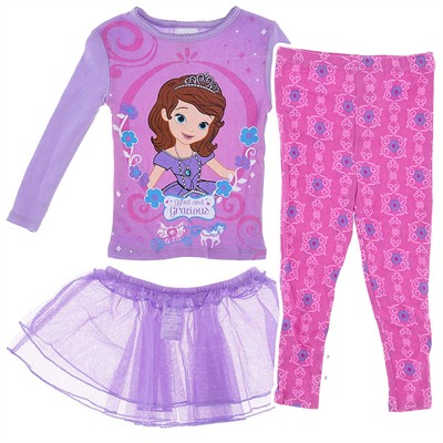 Princess Sofia Pajamas with Tutu for Toddler for Girls
