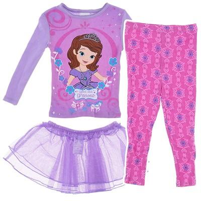 Princess Sofia Pajamas with Tutu for Toddler for Girls