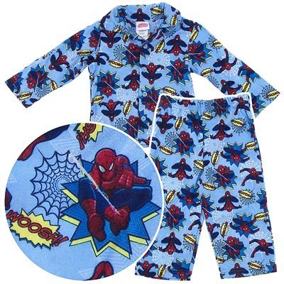 Spider-man Light Blue Coat-Style Pajamas for Toddler Boys