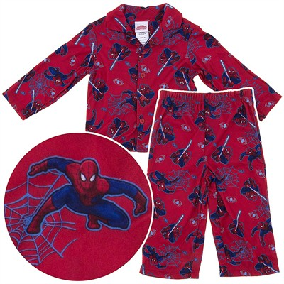Spider-man Red Coat-Style Pajamas for Toddler Boys